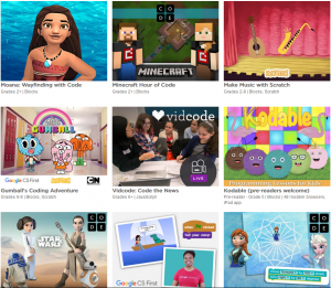 the hour of code provides one hour computer science tutorials for all ages